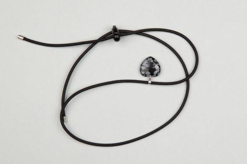 Pantastic noir déco coeur pierre semi-précieuse Obsidienne - Les filles à vélo