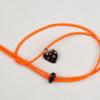 Pantastic orange déco coeur de verre noir incrusté de fleurs style Murano - Les filles à vélo