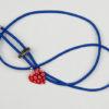 Pantastic bleu déco coeur de verre rouge incrusté de fleurs style Murano - Les filles à vélo