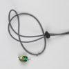 Pantastic gris déco perles de verre vertes dans bandeau réfléchissant liseré vert