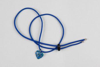 Pantastic bleu roi déco coeur verre bleu incrusté de fleurs style Murano