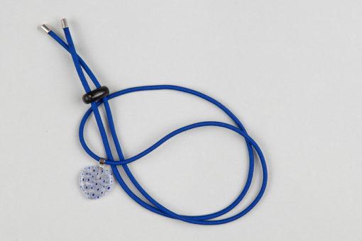 Pantastic bleu roi déco coeur verre transparent incrusté de fleurs bleue roi style Murano